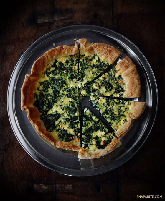 Spinach Feta Quiche | Snap a Bite